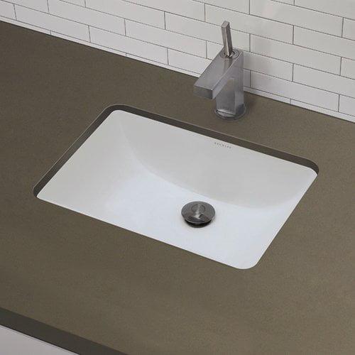 Bathroom Sinks At Walmart decolav classic rectangular undermount bathroom sink with overflow