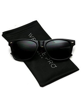 4d3c087d47 Product Image WearMe Pro - Classic Full Black Frame Square Retro Sunglasses  for Men or Women