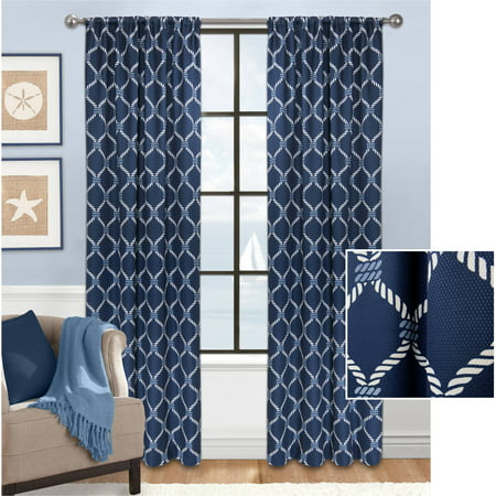 - Mainstays Lattice Loop Fashion Window Curtain