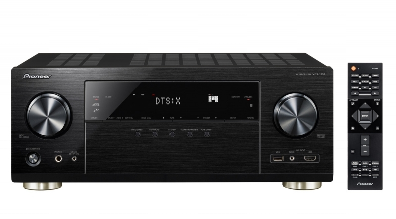 Pioneer VSX-1131-K 7.2 Channel AV Receiver with Built-In Bluetooth Wi-Fi & Dolby ATMOS Black by Pioneer