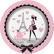Creative Converting Party in Paris Paper Plate (Set of 24)