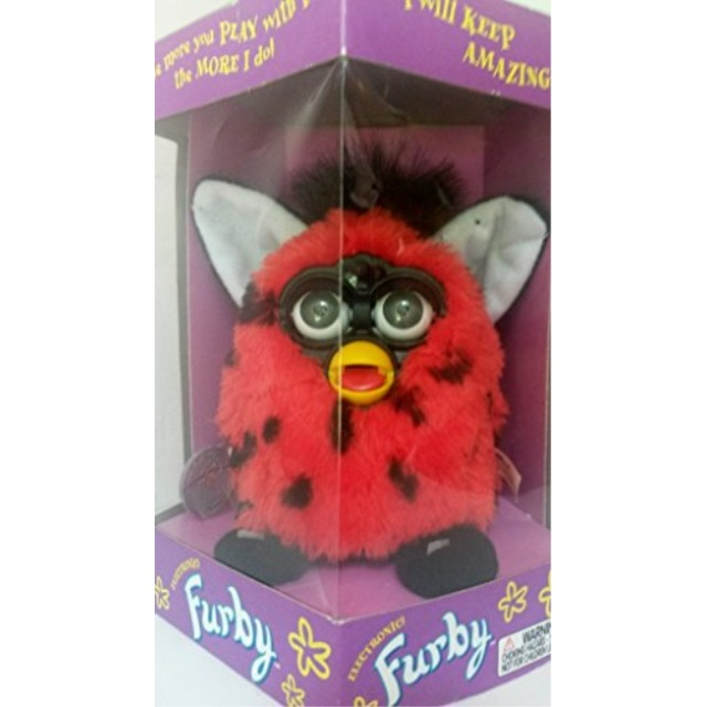 Furby Ladybug Generation 4 Red with Black Spotted Body by