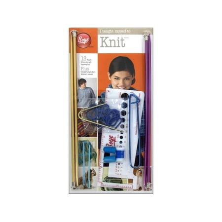 Boye I Taught Myself To Knit Kit, 1 (Bag Knitting Kit)