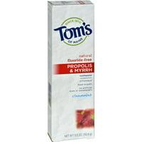 Tom's Of Maine Propolis & Myrrh Toothpaste Fluoride-Free Cinnamint, 5.5 OZ