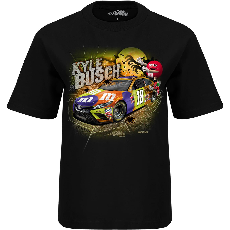Kyle Busch Joe Gibbs Racing Team Collection Youth Halloween T-Shirt - Black