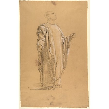 Saint Remi  Lower Register Study For Wall Paintings In The Chapel Of Saint Remi Sainte Clotilde Paris 1858  Poster Print By Isidore Pils  French Paris 181315   1875 Douarnenez   18 X 24