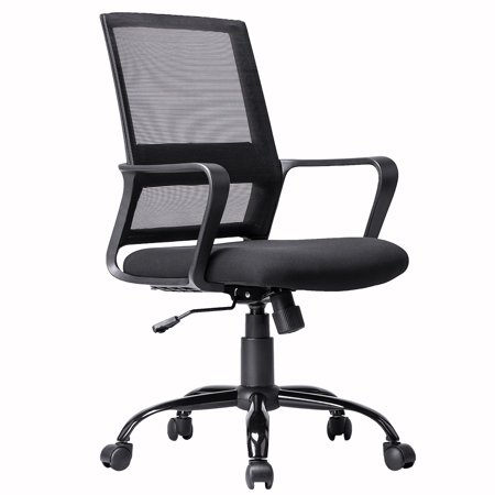 Home Office Chair Desk Computer Ergonomic Swivel Executive Rolling Chair With Arms Lumbar Support Task Mesh Chair Heavy Duty Mid-Back Metal Chair For Women, Men