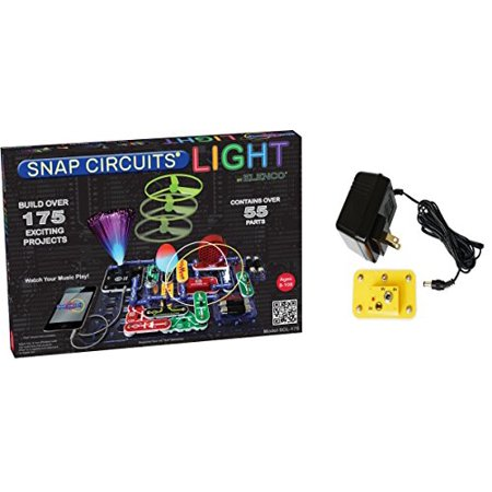 Elenco Snap Circuits Lights Deluxe Bundle with Battery Eliminator (2 - Snap Circuits Lights