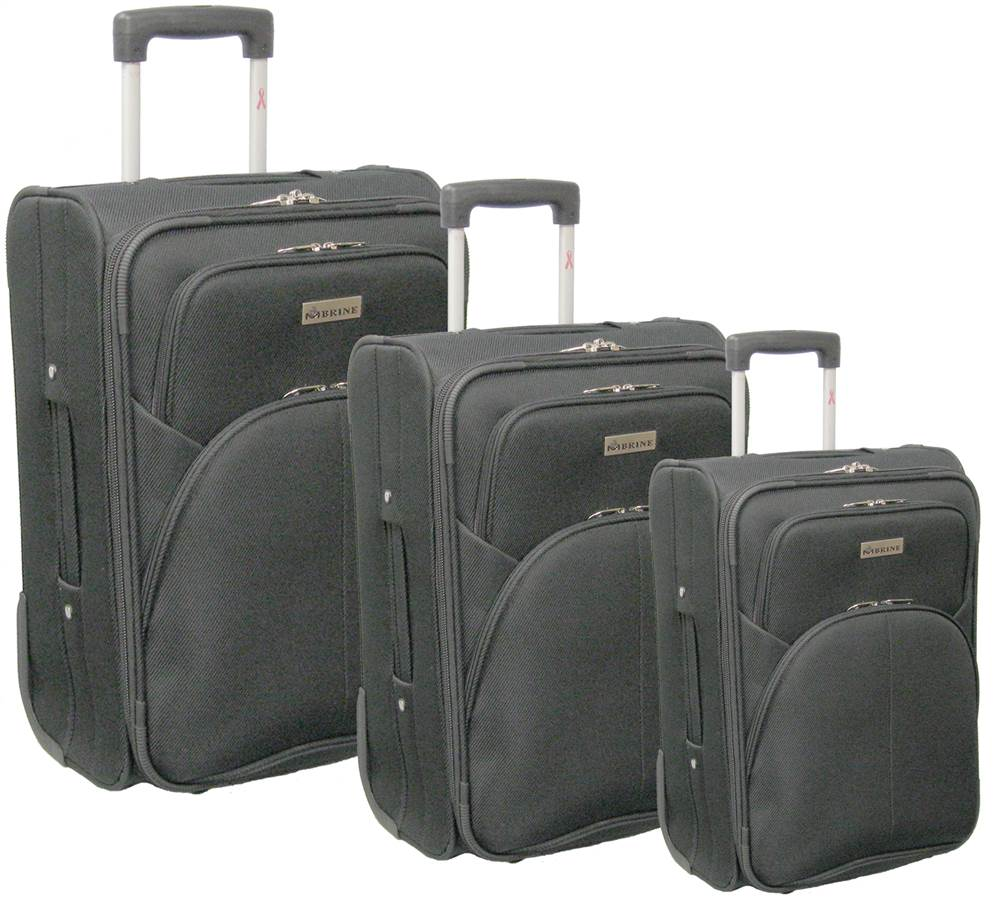 3-Pc Light Weight Luggage Set in Black