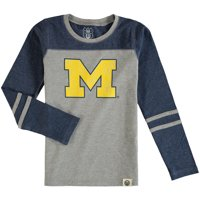 8d47966db1bb7 Product Image Michigan Wolverines Wes & Willy Girls Preschool Slub Blend  Long Sleeve Jersey T-Shirt -