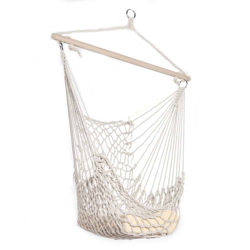 Hammock Chairs Hanging Rope Chair Outdoor Christmas Decorations Clearance, Swing Seat for Outside, Indoor&Outdoor Camping Chairs Patio Chairs White