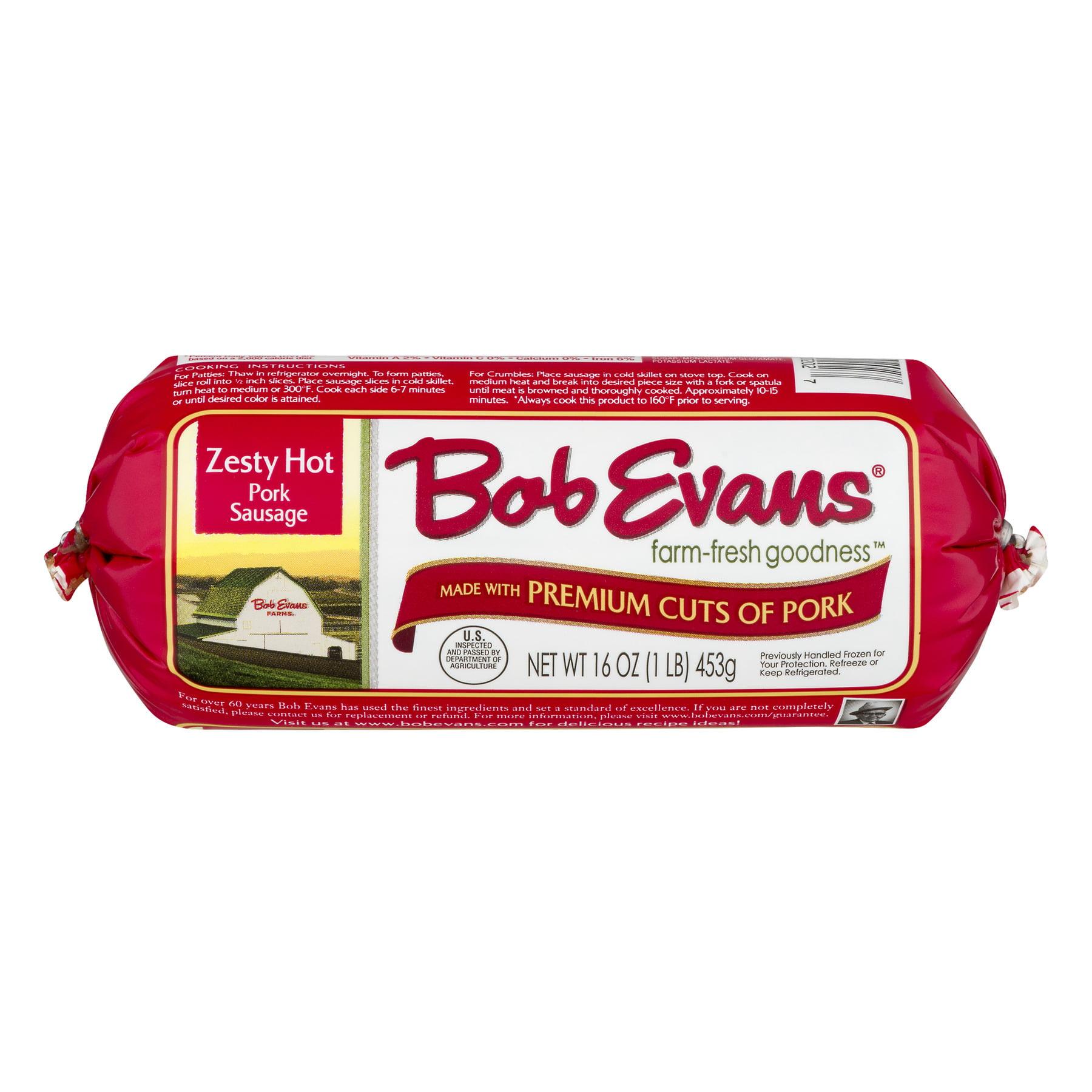 Bob Evans Farms Roll Sausage Hot Previously Frozen - Julian ...