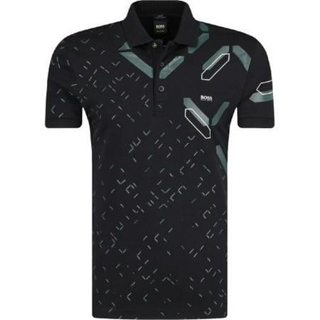 f5182406b HUGO BOSS - Hugo Boss Paule 3 Polo Men s Black Print Short Sleeve T-Shirt  XXL (XXL) - Walmart.com