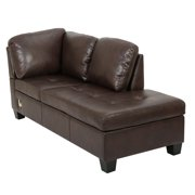 low priced dbf8d 816cf Evan 3 Piece Leather Sectional Sofa