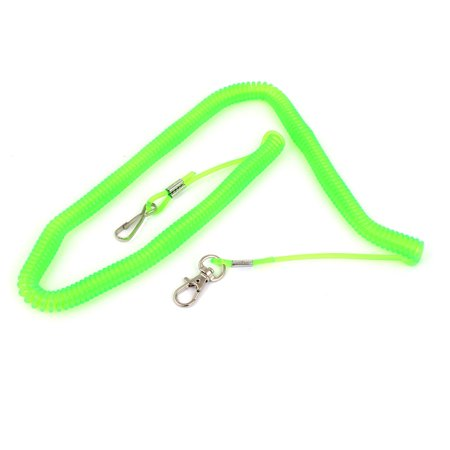 - Unique Bargains 4M 13.1 Ft Long Retractable Flexible Coiled Fishing Lanyard Rope Lime Green