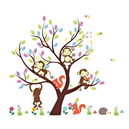 Soledi Wall Sticker Kids Jungle Theme Peel Amp Stick Wall Decal - Jungle theme wall decals