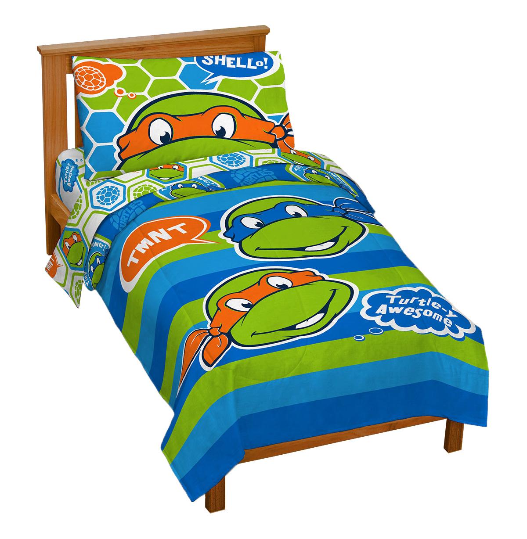 Nickelodeon Teenage Mutant Ninja Turtles 'Turtley Awesome' Toddler Bed Set