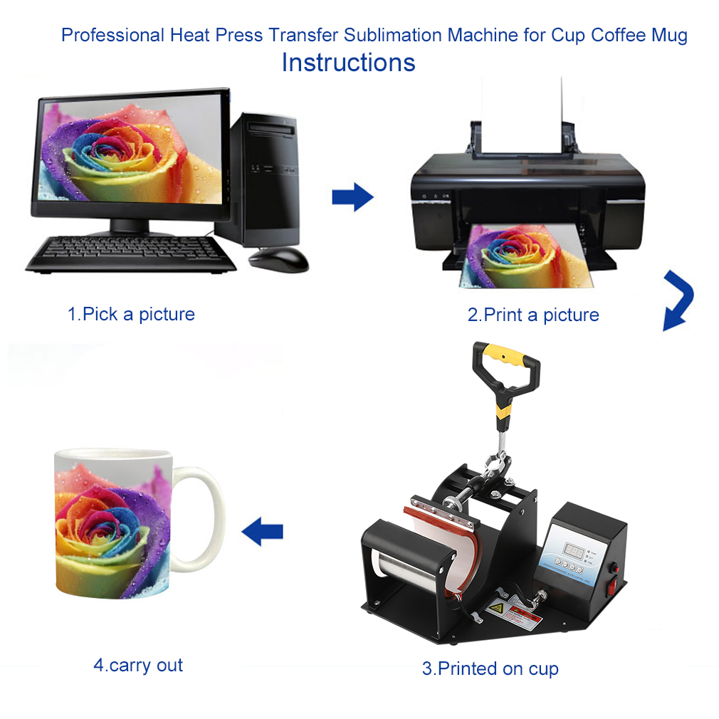 Professional Heat Press Transfer Sublimation Machine for ...