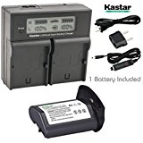 Kastar LCD Dual Smart Fast Charger & Battery (1 PACK) for...