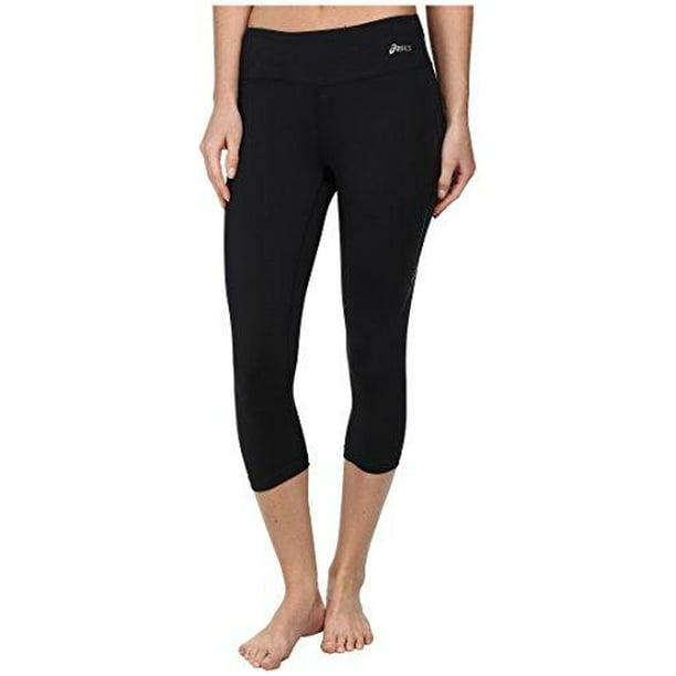 ASICS Women's Lavatrie Athletic Capri Legging Pants, Black