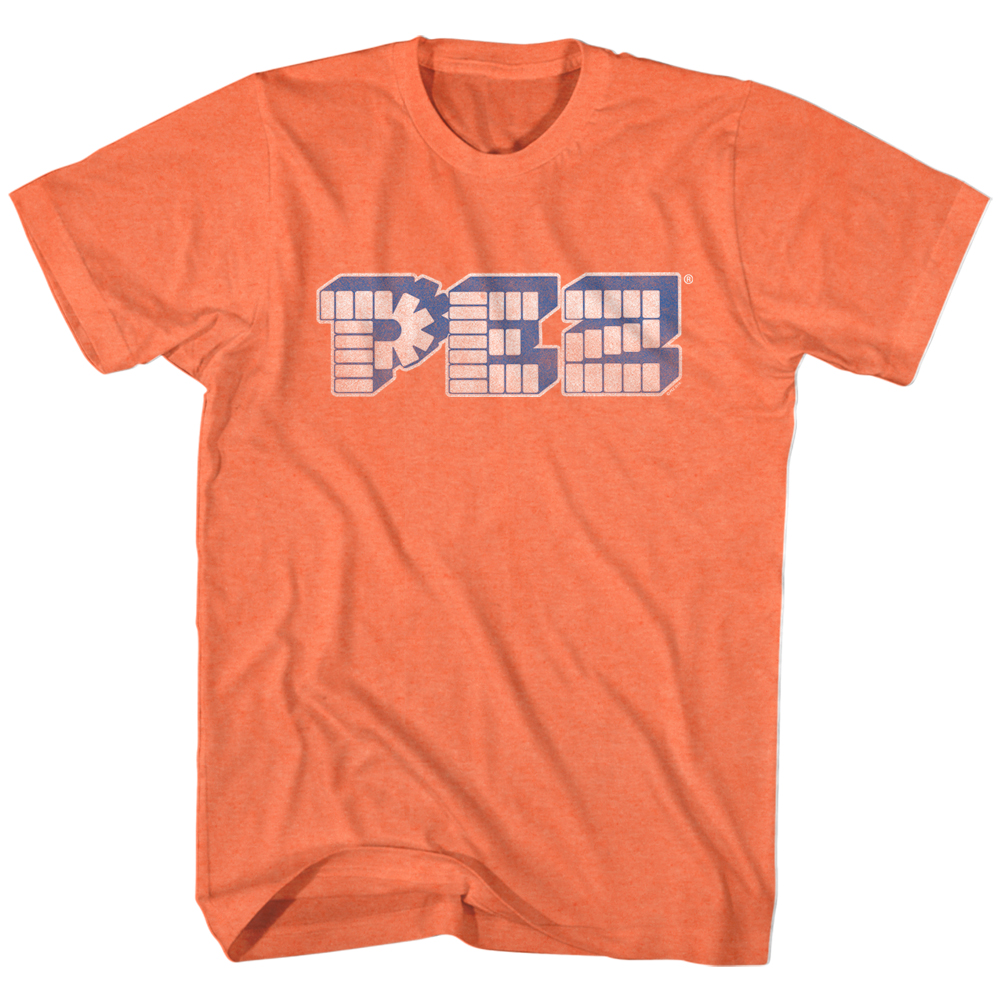 PEZ Brick Candy With Dispensers Pop Culture Block Logo Adult T-Shirt Tee