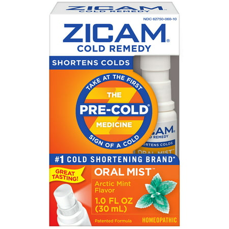 Zicam Cold Remedy Oral Mist, Arctic Mint, 1 Fl Oz