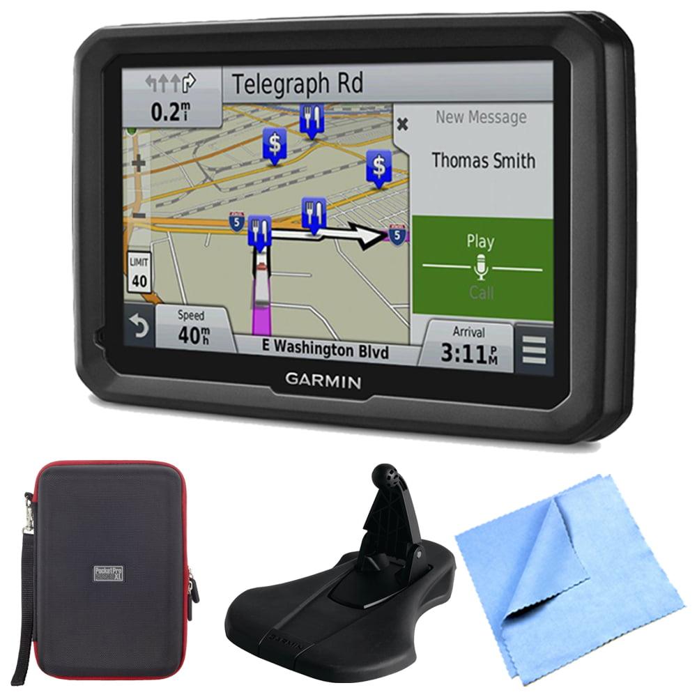 "Garmin dezl 770LMTHD 7"" GPS Navigation Carry Case Micro Fiber Cloth Bundle"