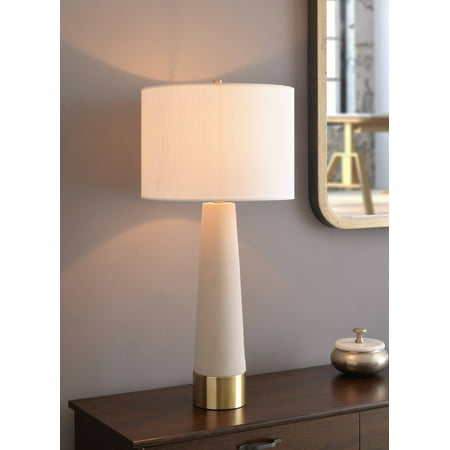 Brass Antique Table Lamp - Audra Concrete and Antique Brass Table Lamp