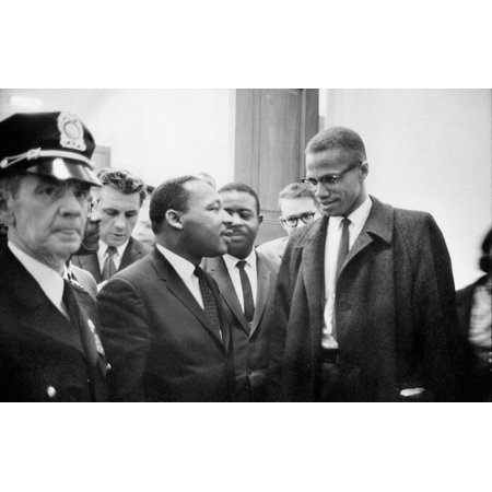 King And Malcolm X 1964 Ndr Martin Luther King Jr (Left) American Cleric And Civil Rights Leader Photographed With American Religious And Political Leader Malcolm X Before A Press Conference In