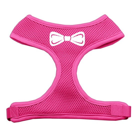 Mirage 70-33 SMPK Bow Tie Soft Mesh Dog Harness Pink Small