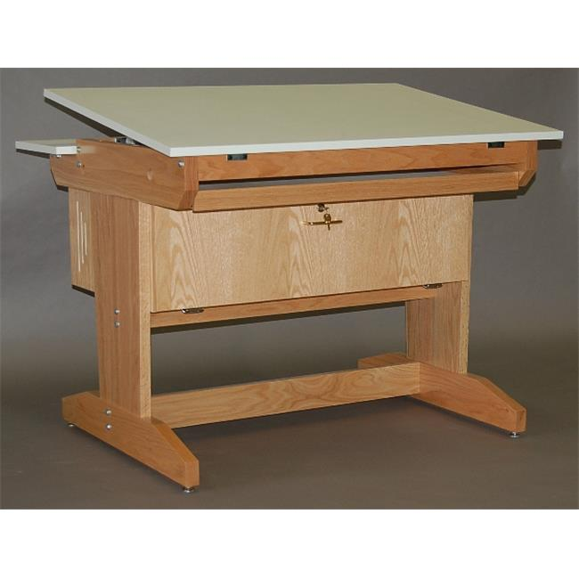 SMI M3942-CW30D Medium Oak Finish Computer Station