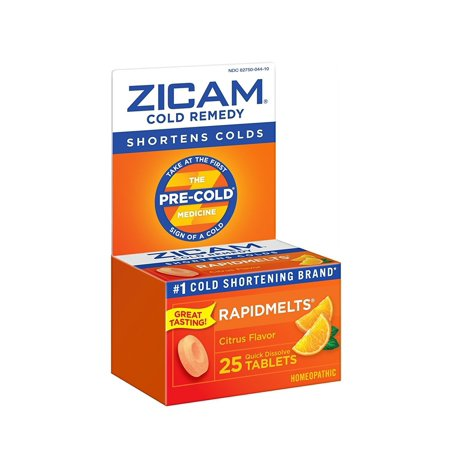 Zicam Cold Remedy RapidMelts +C, Citrus, 25 Quick Dissolve