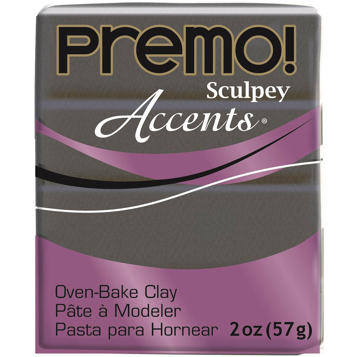 Premo Sculpey Accents Polymer Clay 2oz-Graphite Pearl