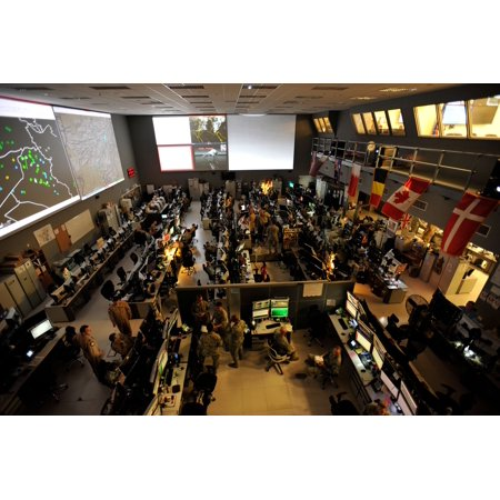 Canvas print combined air and space operations center caoc at al