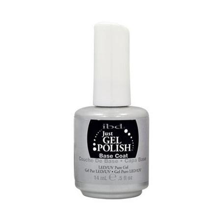 Gel Bases - IBD Just Gel 0.5oz UV Nail Polish Foundation Manicure, BASE COAT, 56503