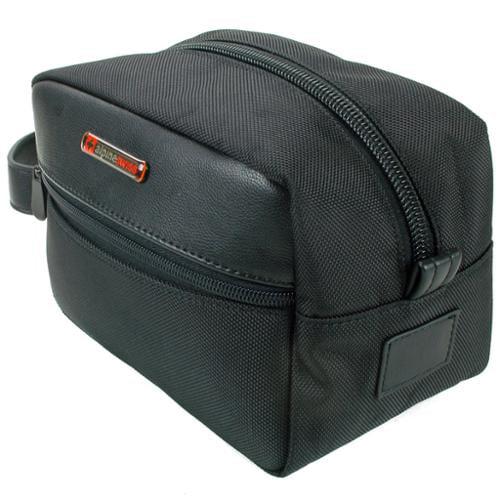 Alpine Swiss Hudson Shaving Kitt Dopp Kit Overnight Toiletry Bag Travel Case New Black One Size