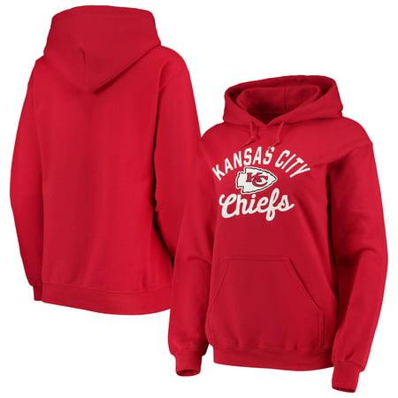 Kansas City Chiefs New Era Women's Brushed Fleece Pullover Hoodie - Red Fleece Kansas City Chiefs Sweatshirt