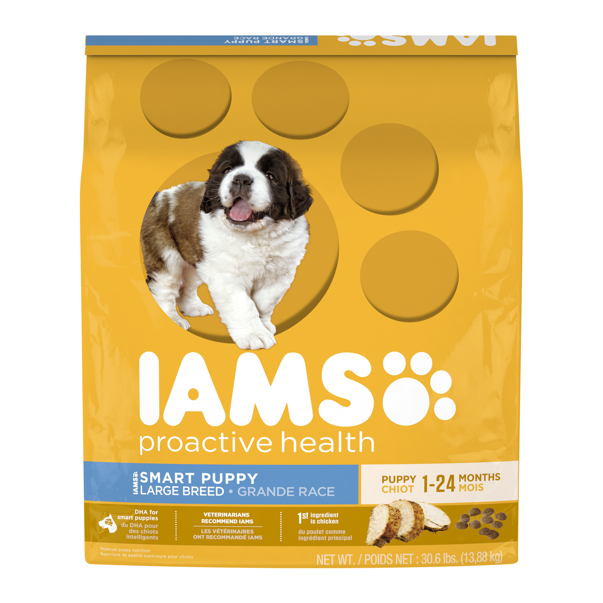 IAMS PROACTIVE HEALTH Smart Puppy Large Breed Dry Puppy Food 30.6 Pounds by Mars Petcare
