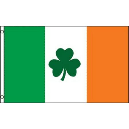 3x5 Ireland Flag Irish Shamrock Banner Clover Pennant St Patricks Day Celtic - Ireland Flags