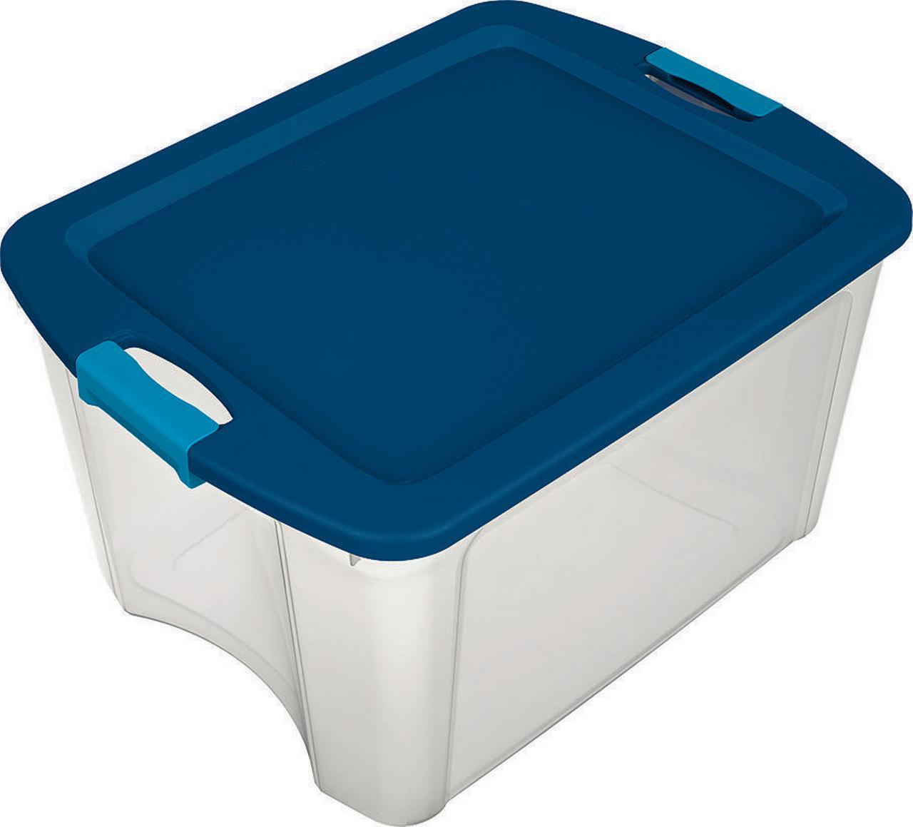 New Sterilite 14469606 18 Gallon Latch and Carry Storage Tote Box Container