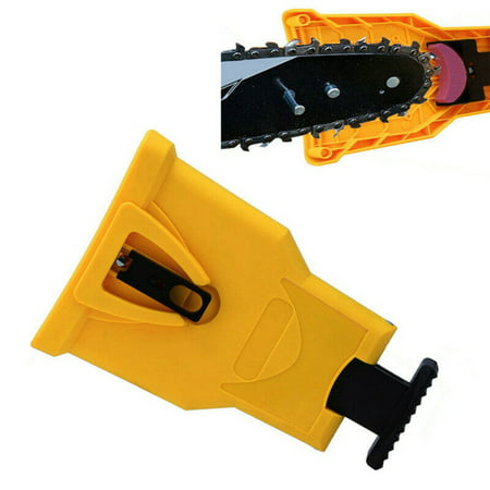 Exteren Chain Saw Sharpening Tool, Unique Proprietary Saw Chain Sharpening Tool Fast Sharpen Their Chain On The Job (Yellow) (Saw Sharpening Tools)