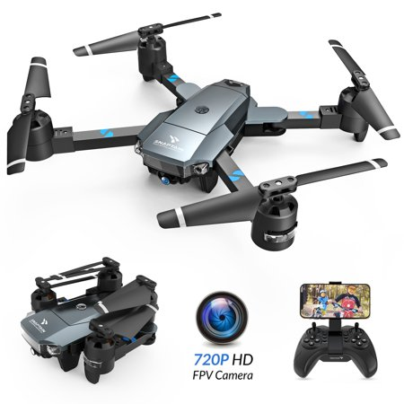 SNAPTAIN A15H Foldable 720P HD Camera Drone with Live Video 120° Wide-Angle WiFi Quadcopter ,Trajectory Flight/Altitude Hold/Headless Mode/3D Flip/One Key Return for Beginners