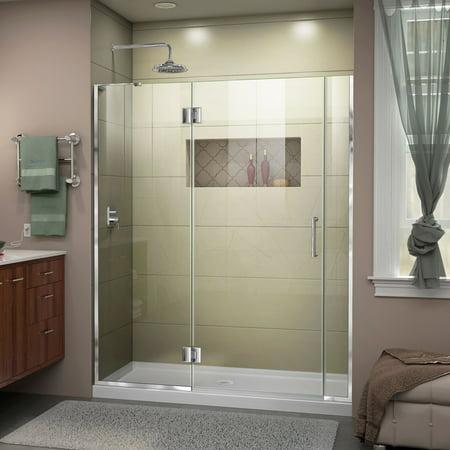 DreamLine Unidoor X 58 58 1 2 in W x 72 in H Frameless Hinged Shower D