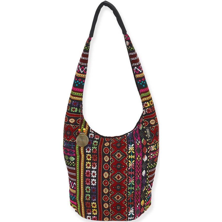"Catori Soft Hobo Tote 10"" x 6"" x 13"", Tangiers-Red"