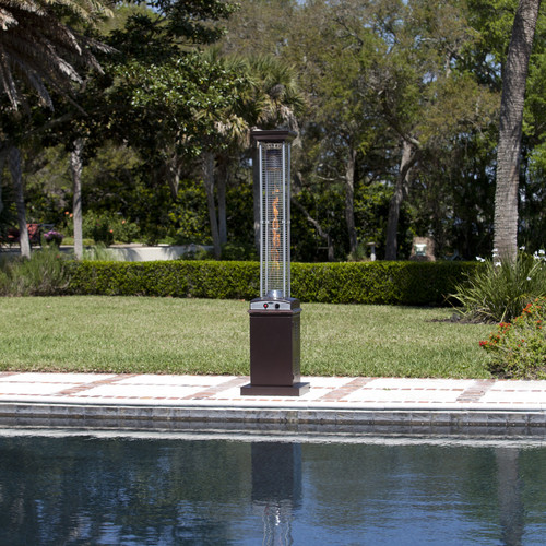 Fire Sense Hammered Square Flame Patio Heater by Fire Sense