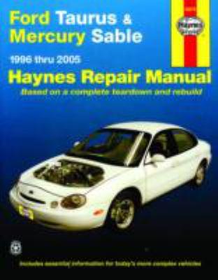 ford taurus   mercury sable 1996 thru 2005  haynes repair Ford Motor Company Owners Manuals 2005 ford freestar owner's manual