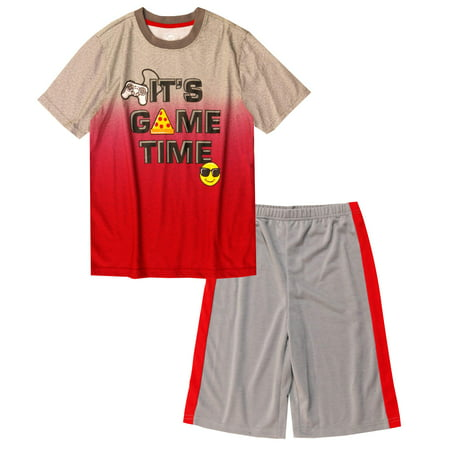 Boy's 2 Piece Pajama Short Sleep Set (Big Boys & Little Boys) (Signature Series Pajamas)