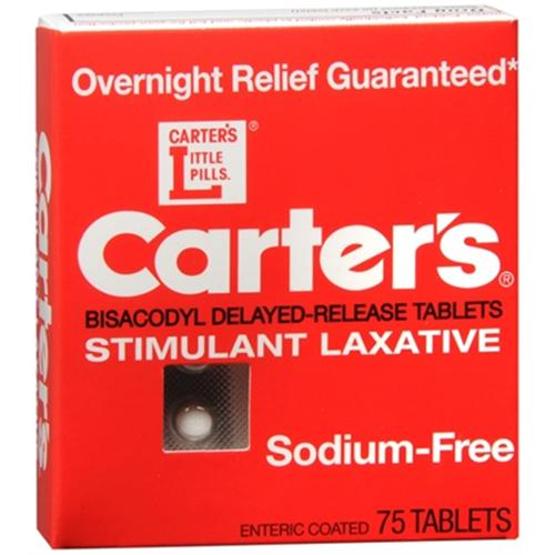 Carters Laxative Sodium Free Pills - 75 Ea