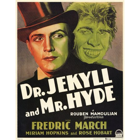 Dr. Jekyll and Mr. Hyde (1931) 11x17 Movie Poster](Jekyll And Hyde Halloween Makeup)