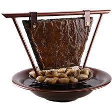 Fountain Bluworld Haiku Moon Slate Tabletop Water Fountain - WWHMC